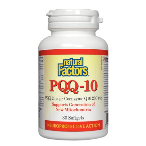 Natural Factors PQQ-10 with CoQ10 Heart and Cognitive Health 30 softgels