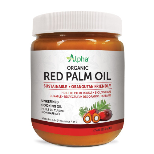 Alpha Organic Red Palm Oil, Sustanable, Unrefined cooking oil Canada