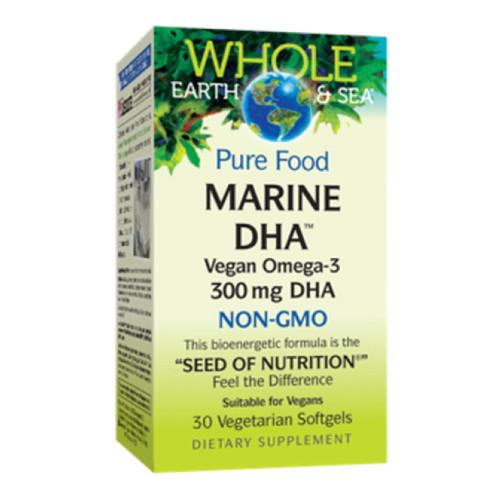 Natural Factors Whole Earth and Sea Pure Food Marine DHA Vegan Omega-3 300 mg DHA non-GMO Canada