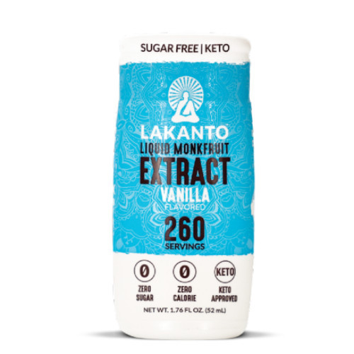 Lakanto Liquid Monkfruit Extract Vanilla natural sweetener sugar free Canada