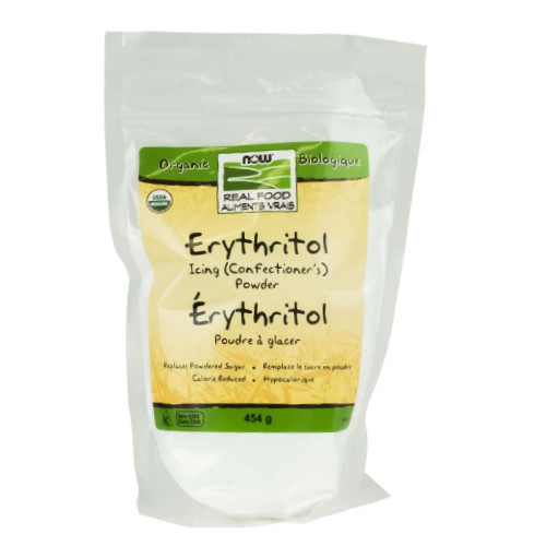 NOW Organic Erythritol Icing (Confectioner's) Powder 454 grams