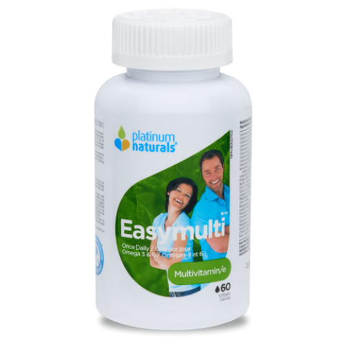 Platinum Naturals EasyMulti Multivitamins Once Daily 60 softgels