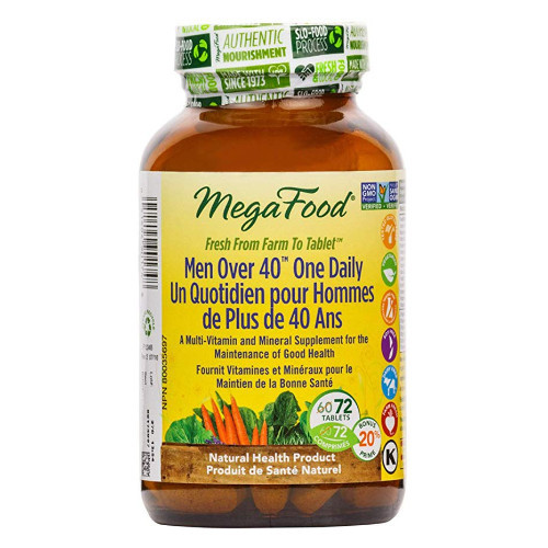 MegaFoods Men Over 40 One Daily 72 tablets bonus Canada