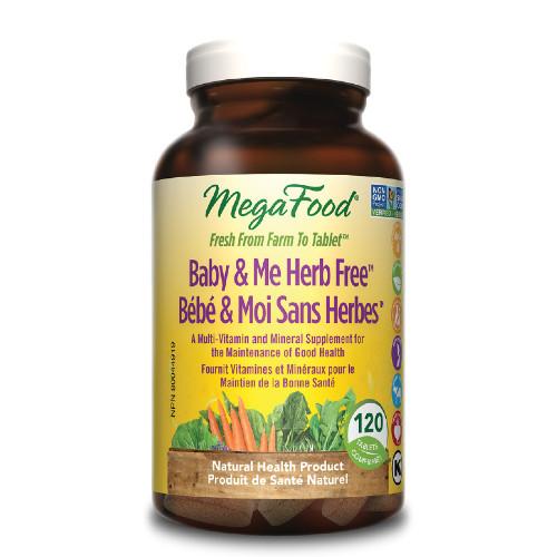 MegaFood Baby & Me Herb Free 120 tablets
