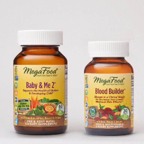 MegaFood Baby & Me 2 plus Blood Builder Gift With Purchase