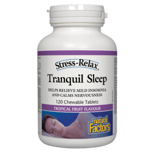 Natural Factors Stress-Relax Tranquil Sleep 120 chewable tablets