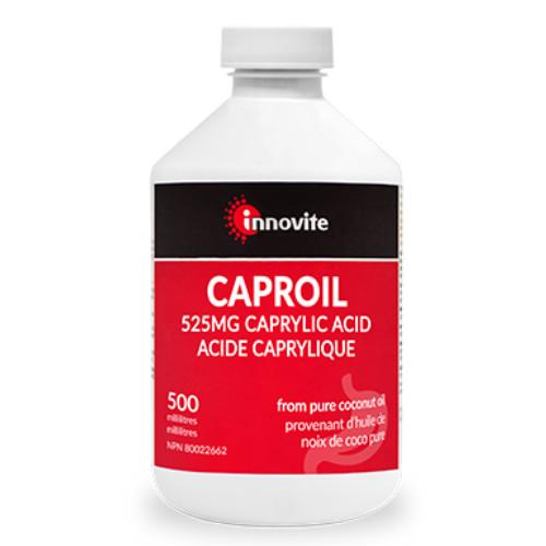 Innovite Caproil 525mg Caprylic Acid 500 ml Canada