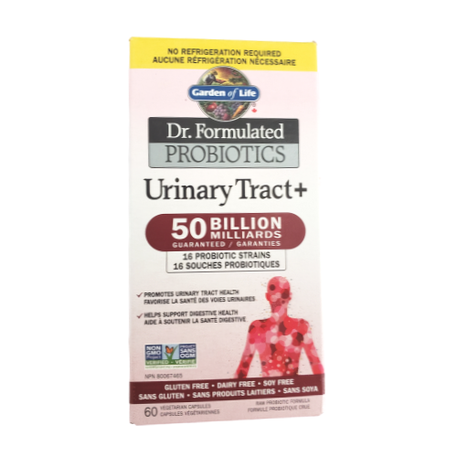 Garden of Life Dr. Formlated Urinary Tract+ 50 billion Shelf Stable Priobiotic 60 veg caps