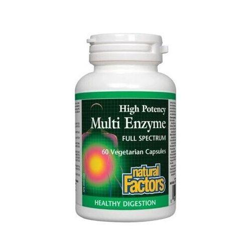 Natural Factors High Potency Multi Enzyme Full Spectrum 60 vegetarian capsules