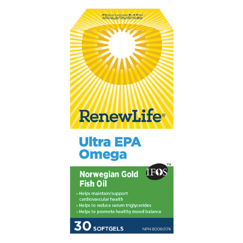 Ultra EPA Omega with high absorption to maintain and support cardiovascular health.  30 capsules