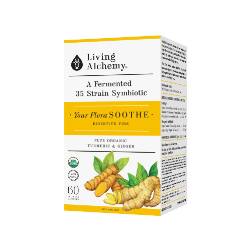 Living Alchemy Your Flora Soothe Digesitve Fire 60 pullulan capsules