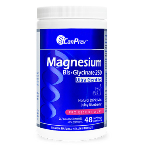 CanPrev Magnesium Bis-glycinate 250 ultra gentle Juicy Blueberry