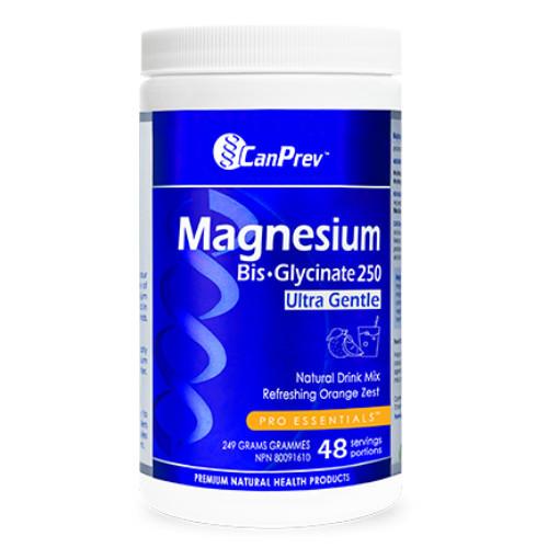 CanPrev Magnesium Bis-glycinate 250 Ultra Gentle Orange zest