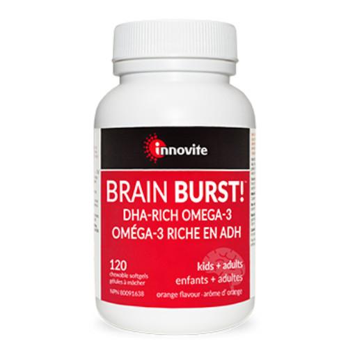 Innovite Brain Burst DHA-Rich Omega-3 120 chewable softgels