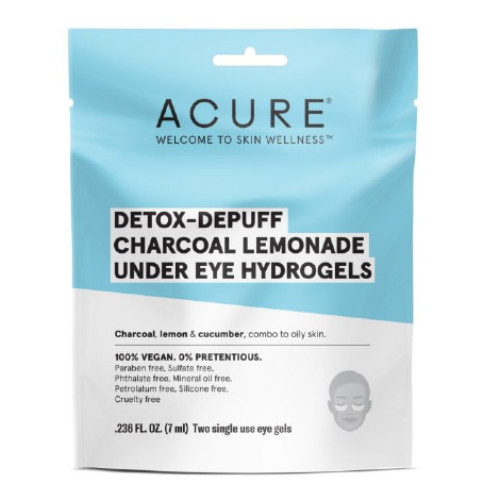 Acure Detox-Depuff Charcoal Lemonade Under Eye Hydrogels Combo to Oily Skin