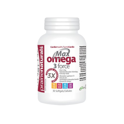 Prairie Naturals Max Omega 3 Force Cardio Health 30 softgels