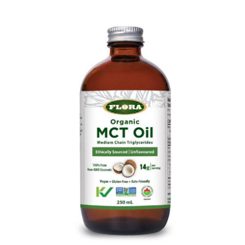 Flora Organic MCT Oil  Medium Chain Triglycerides Unflavoured 250 ml