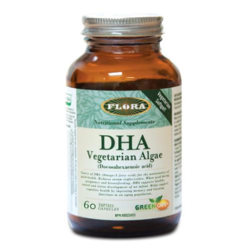 Flora DHA Vegetarian Algae 60 softgels
