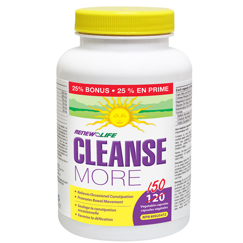 Renew Life Cleanse More  150 vegetable capsules