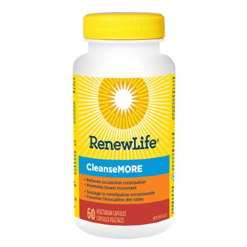 Renew Life CleanseMORE 60 vegetable capsules. NEW LOOK