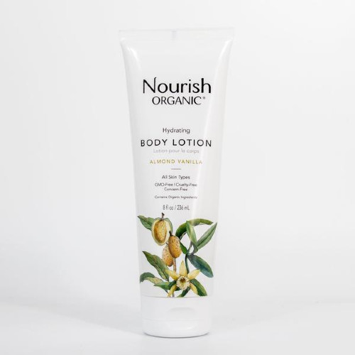 Nourish Organic Hydrating Body Lotion Almond Vanilla 236ml