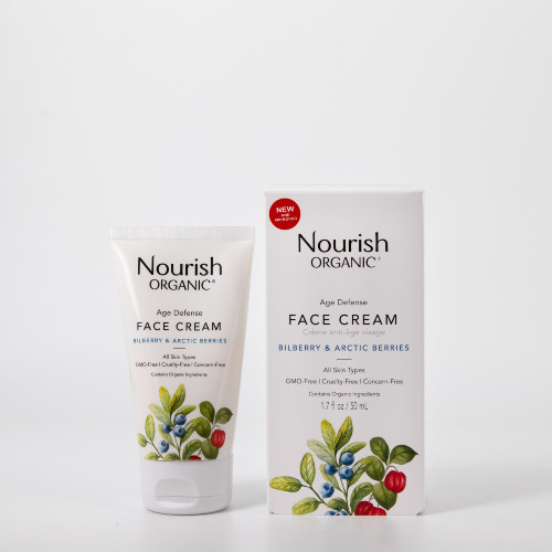 Nourish Organic Age Defense Face Cream Bilberry & Arctic Berries 50 ml  Canada