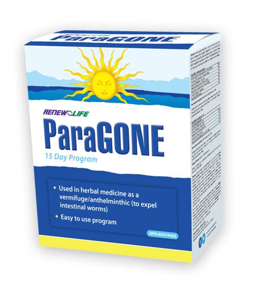 Renew Life ParaGONE 15 day program to expel intestinal worms.