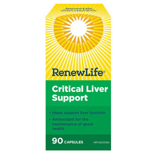 Renew Life Critical Liver Support 90 vegetable capsules per bottle. NEW LOOK