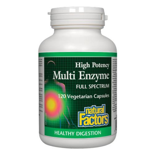 Natural Factors High Potency Multi Enzyme full spectrum 120 veg caps