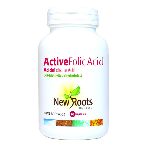New Roots Active Folic Acid L-Methylfolate 60 caps pregnancy