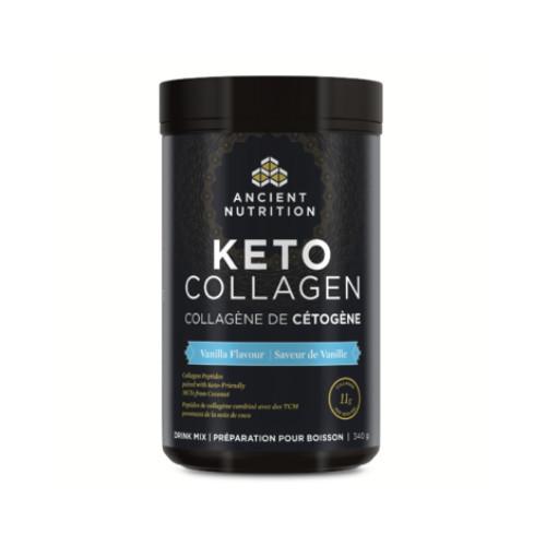 Ancient Nutrition Keto Collagen drink mix vanilla flavour 340 gram