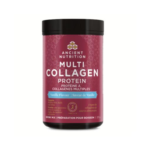 Ancient Nutrition Multi Collagen Protein drink mix vanilla flavour 231 grams