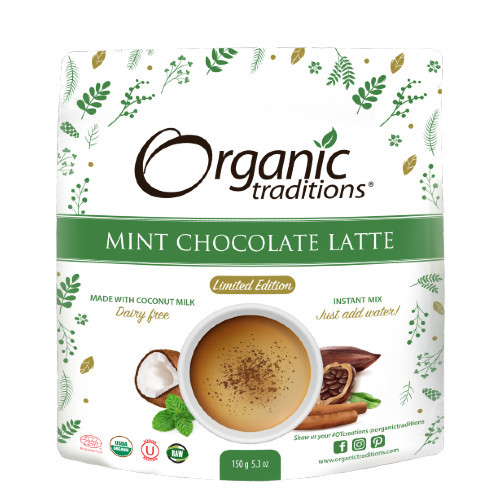 Organic Traditions Mint Chocolate Latte 150 grams