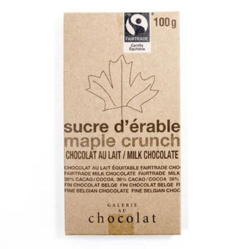 Galerie Au Chocolat Maple Crunch Milk Chocolate 100 grams