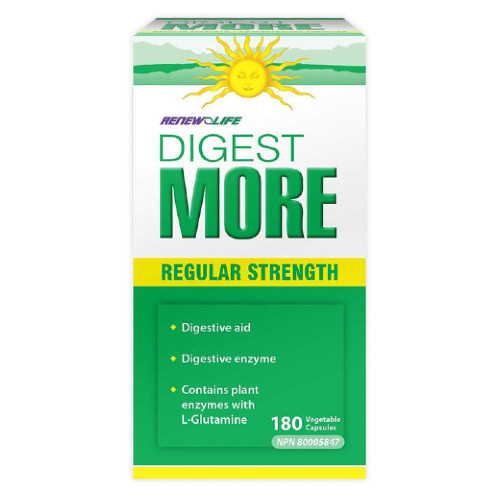 Renew Life Digestmore Regular Strength 180 veg caps Canada