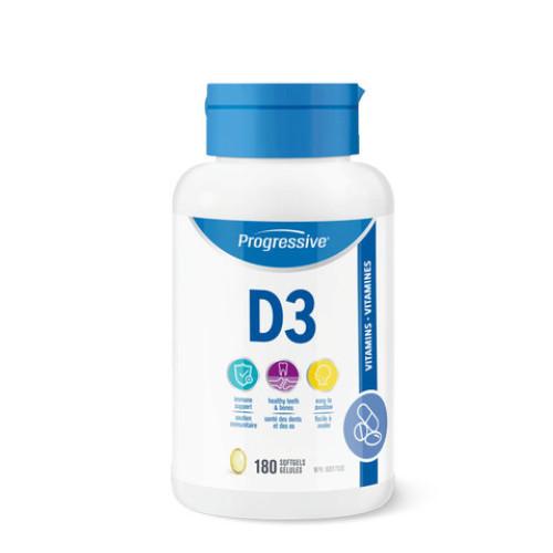 Progressive Vitamin D3 180 softgels Canada