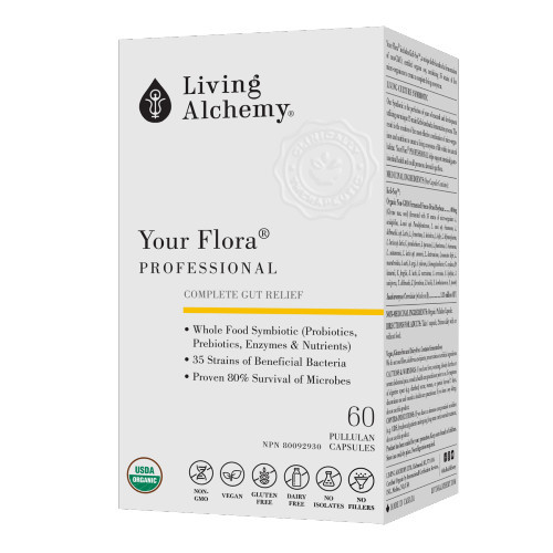 Living Alchemy Your Flora Professional Complete Gut Relief 60 Pullan Capsules
