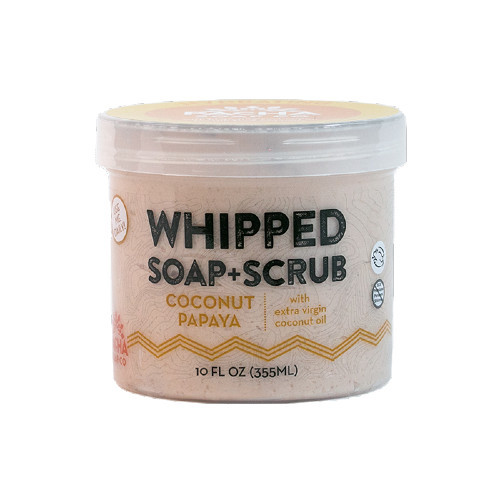Pacha Soap Hydrating Coconut Papaya Whipped Soap & Scrub 284 grams