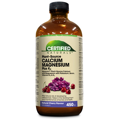 Certified Naturals Calcium Magnesium Plus K2 Cherry 450 ml