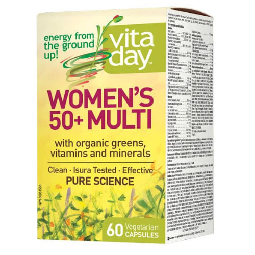 VitaDay Women's 50+ Multi with Organic Greens, Vitamins and Minerals 60 capsules