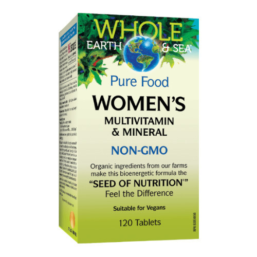 Natural Factors Whole Earth & Sea Women's Multivitamin & Mineral 120 tablets
