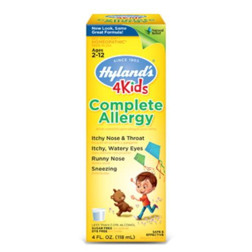 Hyland's Complete Allergy 4 Kids in 118 or 4 fl oz bottle.