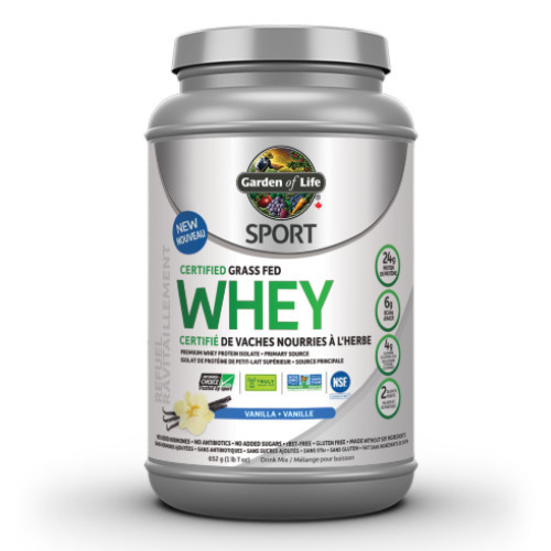 Garden of Life Certified Grass Fed Whey Protein Vanilla 640 grams