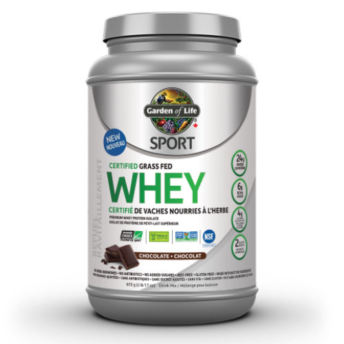 Garden of Life Certified Grass Fed Whey Protein Chocolate 660 grams