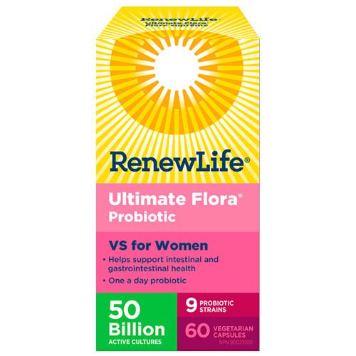 Renew Life Ultimate Flora  Probiotic VS for Women 50 Billion 60 veg caps