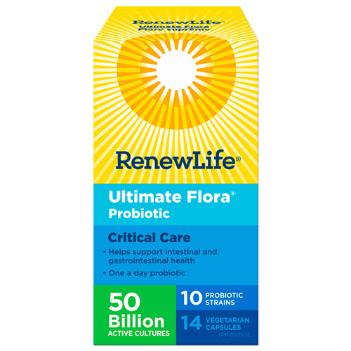 Renew Life Ultimate Flora Probiotic Critical Care 50 Billion 14 veg caps