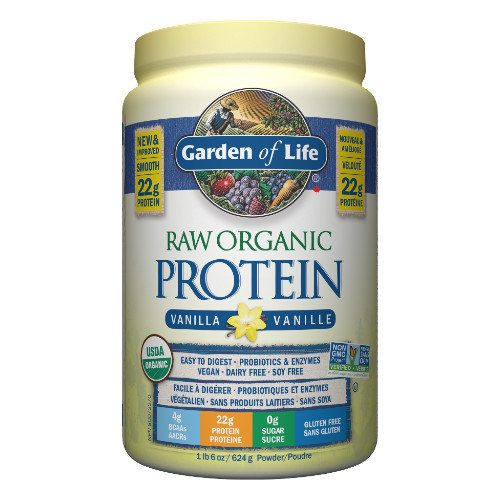 Garden of Life Raw Organic Protein Vanilla 620 grams Canada