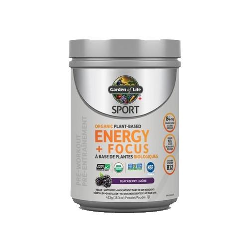 Garden of Life Sport Organic Plant-Based Energy + Focus 432 grams