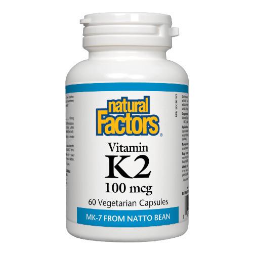 Natural Factors Vitamin K2 100mcg 60 veg caps
