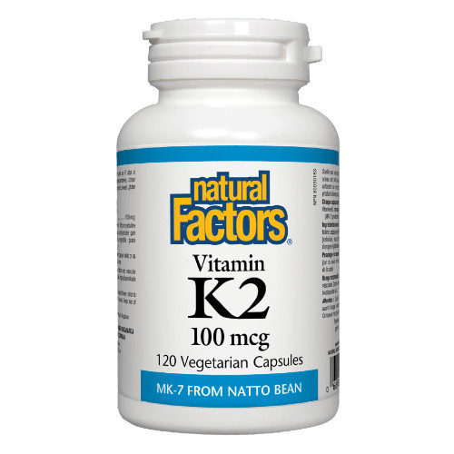 Natural Factors Vitamin K2 100mcg 120 veg caps